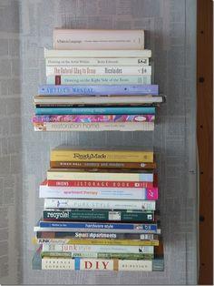 """DIY """"Floating"""" Bookshelves."""