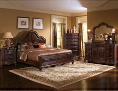 I like the positioning of the rug.  - Image detail for -French Country bedroom ideas