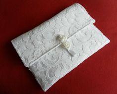 Exclusive  White Lace Wedding Clutch, Bridal Bag, Handbag, Bridesmaid £18.00