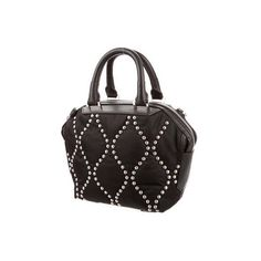 Alexander Wang Studded Emile Bag ($425) ❤ liked on Polyvore featuring bags, handbags, shoulder bags, handbags purses, man bag, studded handbags, satchel hand bags and studded satchel handbag