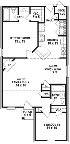 Simple Bedroom Bath House Plan Plans Floor Details Need Help Call