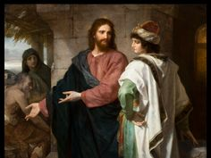Christ and the Rich Young Ruler. Heinrich Hofman, Currently on display at the BYU Museum of Art, Mark 10:17-22