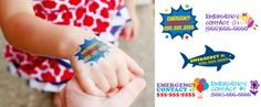 Emergency contact tattoos