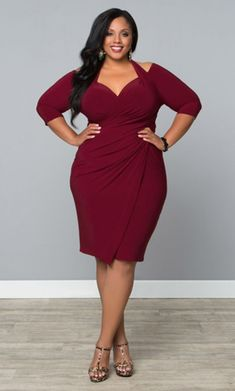 Plus size Spring 2016 New item Elegant Women Dress soild sexy Dress Condole belt O-Neck vestidos casual hot sale short Dress(China (Mainland)) Look Plus Size, Curvy Plus Size, Plus Size Girls, Trendy Plus Size, Plus Size Women, Xl Mode, Mode Plus, Curvy Girl Fashion, Plus Size Fashion