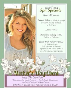 a-MAY-zing Spa Specials & Mother's Day Event at Charleston Medical Spa!