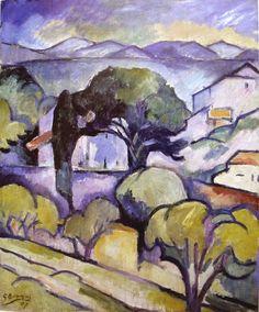 Paysage de Provence, l'estaque (1907) Georges Braque
