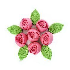 Confeito de Açúcar Rosas Artesanais P Ref. 02 c/ 12 peças Jady- Loja Santo Antonio