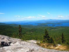 Lake winnipesaukee from Mount Major New Hampshire.