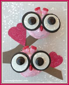 valentine cupcakes decorating ideas | Owl Always Love You Cupcakes