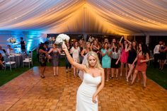 Wedding Tent / bouquet toss The Cliffs Resort Weddings by bluephoto