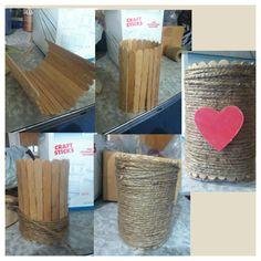 A twine Popsicle stick craft!!