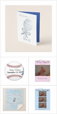 Baby Birth Announcement for Baby Boy and Baby Girl, Twins and Multiples.  Personalized Cards, Real Silver and Gold Foil Greeting Cards, Pens, Baseballs, Birth Stats Pillows and more!  Personalize and upload your photos.  Original Photography, Graphic Artwork and Designs by TamiraZDesigns.