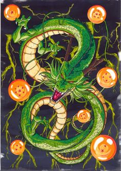 Shenron and the seven magic dragon balls. Would be the best tattoo ever! - Shenron and the seven magic dragon balls. Would be the best tattoo ever! Dragon Ball Gt, Shen Long Tattoo, Dragonball Goku, Sheng Long, Z Tattoo, Anime Tattoos, Naruto Tattoo, Beste Tattoo, Pretty Cure