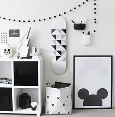 Monochrome playroom | @modernburlap loves