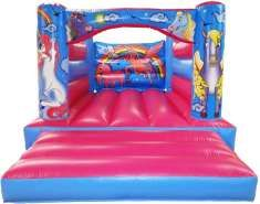 11x15 Unicorn Horse Bouncy Castle - Bouncy Castles - Bouncy Castle and Soft Play Hire in Essex,