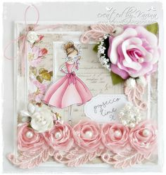 Hello and good morning everyone, today I want to show you a card I made with one of the new Little Darlings All Dressed Up Stamps. I stam. Spectrum Noir, Prosecco, Little Darlings, Handmade Cards, Stamping, Floral Wreath, Card Making, My Love, Creative