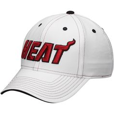 6a6fd20d648 Mens Miami Heat New Era Gray Side Ringer 9FIFTY Adjustable Hat ...