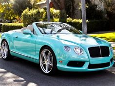 Turquoise convertible, I know someone who would like this.