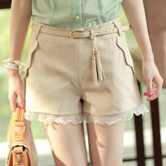 Buy 'Ringnor – Frilled Tasseled Shorts' with Free International Shipping at YesStyle.com. Browse and shop for thousands of Asian fashion items from China and more!