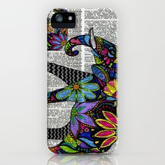 Whimsical Elephants Dancing on Words iPhone & iPod Case by Georgie Pearl Designs - $35.00