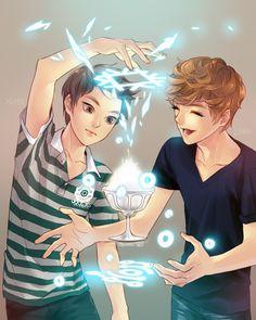 Xiumin & Luhan FANART