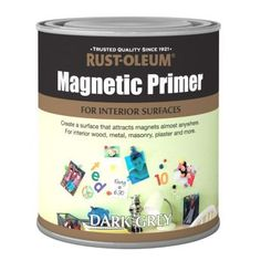 251779435392333936 Magnetic primer. paint on walls and ceiling and once its dried, paint regular paint over it. Then you can put up posters and stuff without using sticky tack that could rip off the paint, or wall tacks that put holes in the walls. PERFECT IDEA xDD
