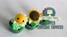 Flower cupcake toppers: how to make cute flower cake toppers