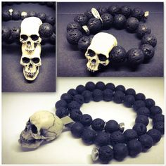 Skulls, Beaded Bracelets, Rock, Handmade, Image, Jewelry, Stone, Hand Made, Jewlery