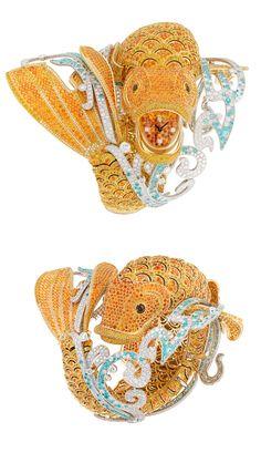 SIHH2015 Van Cleef&Arpels Carpe Koi High Jewellery Watch