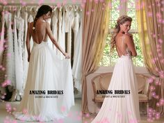 Low back wedding dress backless wedding dress by amazingbridalscom, $229.60