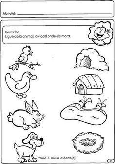 ESPAÇO EDUCAR: Atividades para a Educação Infantil: Os animais Body Preschool, Preschool Themes, Kids Learning Activities, Preschool Lessons, Toddler Learning, Science Activities, Writing Activities, Teaching Kids, Printable Preschool Worksheets