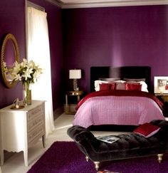 The minute you investigate the lovely purple bedroom ideas, you clearly acknowledge there are a wide varieties of shades you can pick. At last, purple is not just the shading you create when you blend red and blue. Your decisions are not restricted to just the brilliant purple that is prominent among young girl`s rooms. Indeed, you can utilize purple interior shading for rich bedroom design. At last, recollect that purple has been eminent as the shade of eminence for centuries!