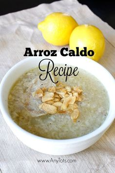 5 minutes to prep and 25 mins on soup setting. Instant Pot Recipe you'd wanna try on a rainy or cold day. This is a Filipino Recipe you'll love if you're looking for an instant pot recipe. Arroz Caldo Filipino Recipe, Filipino Soup Recipes, Caldo Recipe, Filipino Dishes, Greek Recipes, Filipino Food, Pinoy Food, French Recipes, Recipe Recipe