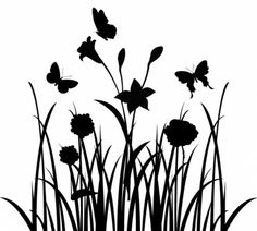 Free obtain vector of flowers panorama silhouette Vector Preto E Branco Obtain Silhouette Clip Art, Silhouette Images, Tree Silhouette, Silhouette Cameo Projects, Silhouette Design, Photographie Street Art, Landscape Silhouette, Illustrator, Flower Landscape