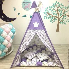 Teepee Tent, Kids Bedroom, Playroom, Diy And Crafts, Toddler Bed, Projects To Try, Kids Rugs, Children, Handmade