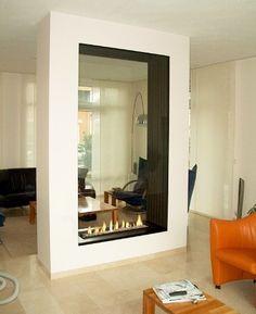 Double Sided Glass Fireplaces #fireplaces www.propertyrepublic.com.au