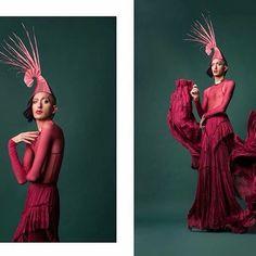 Photography : Good Jude MUA & Style :  Ronny Chokron Headpiece :  Maor Zabar Skirt : Ariel Toledano Photography assistant : Dan Yosefi Bratu #avantgard #hats #hat #model #makeup #fashion #tlv