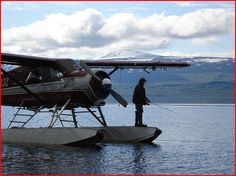 Fishing from a float plane
