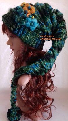 56 Ideas Hat Crochet Pixie 56 Ideas Hat Crochet Pixie,Handarbeit – BE- strickend / knitting – be cool in Wool :o) 56 Ideas Hat Crochet Pixie There are images of the best DIY. Crochet Crafts, Yarn Crafts, Free Crochet, Knit Crochet, Crotchet, Loom Knitting, Knitting Patterns, Crochet Patterns, Freeform Crochet