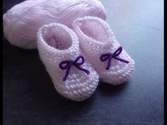 tuto tricot chaussons parti 2 - YouTube