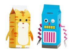 Milk Carton Talking Piggy Bank