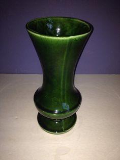 Vintage Floraline McCoy USA 401 Green Drip Vase  on Etsy, $26.75