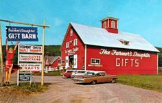 The Farmer's Daughter Country Store east of St Johnsbury, Vermont. Doesn't look too much different now!