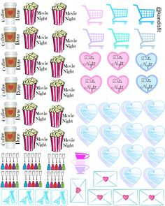 Free Printable Planner Stickers from Kandis Fit