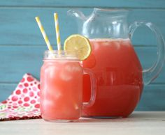 Raspberry Lemonade  - A light, refreshing, low calorie summertime drink made with fresh raspberries and lemons.