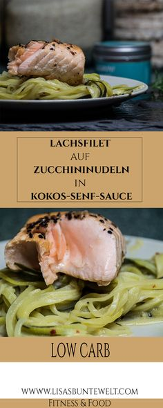 A delicious low-carb recipe for salmon fillet on zucchini noodles (Zoodels) in K - # diet # basic diet # gene diet Low carb recipe - advertising. A delicious low-carb salmon recipe . Salmon Recipes, Fish Recipes, Low Carb Recipes, Healthy Recipes, Quick Recipes, Quick Fish, Law Carb, Snacks Sains, Gnocchi