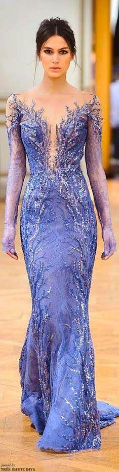 Flor Cruz beautiful french blue dress with embellished details and lavender gloves