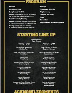Hockey Wedding Program