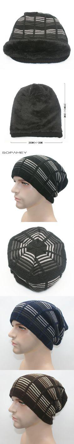 6cd22e59 Unisex Beanies Winter Hats Beanie Men Women Hat Beanies Knitted Hiphop Hat  male Female Plus velvet
