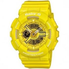 Casio Baby-G Analog Digital Yellow Resin Womens Watch G Watch, Watch Sale, Casio Watch, G Shock Store, Pink Brown, Blue And White, Bright Yellow, Purple, Black